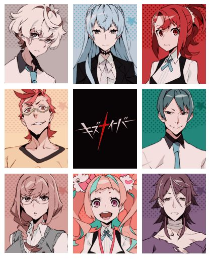 Kiznaiver x Characters. | I was the trailer for this, it looks really good. The art is nice in my opinion and the storyline looks like it is going to be good. I'll update the link to the trailer and anime episode |