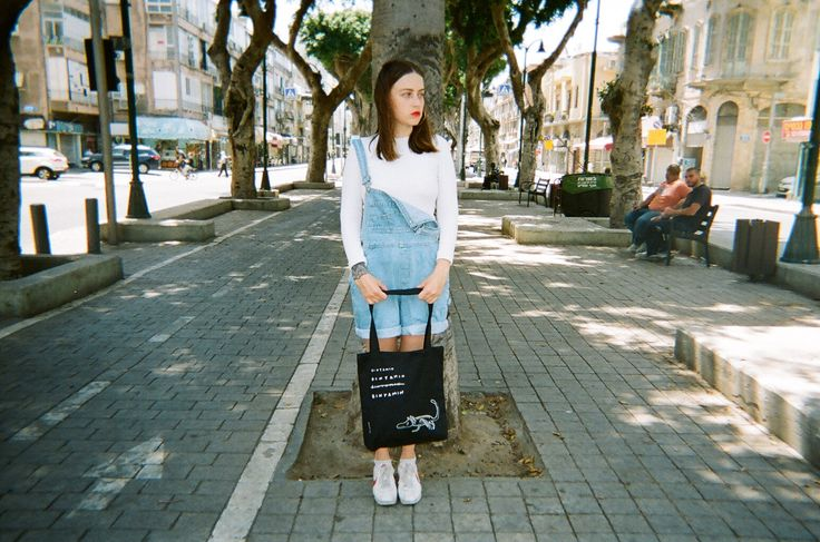 Shopping Bag, Shopping Tote, Black Canvas Tote Bag, Bag With A Pocket, Printed Shoulder Bag, Animal Lover Gift, Summer Vegan Grocery Bag by NoaGoffer on Etsy Picture by Fima Shlick Model: Kessem