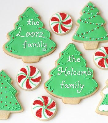 Glorious Treats » Christmas Cookies Galore!! Recipe for cookie and frosting at bottom of page.