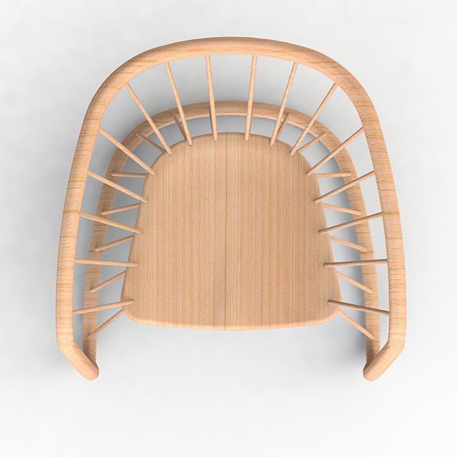 One more angle I didn't remember rendering. See you all tomorrow.  #digitaldesigndaily  #industrialdesign #productdesign #windsorchair