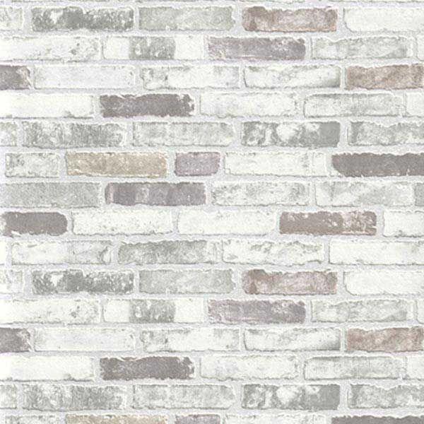 Carta da parati effetto pietra mattoni antichi bianchi for Carta da parati adesiva effetto mattone