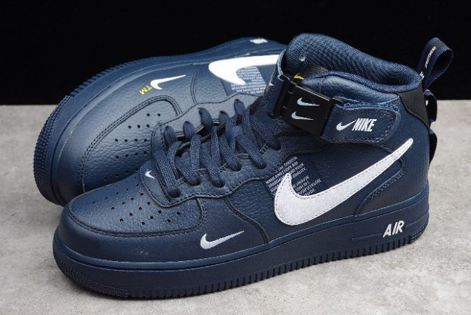 Buy Nike Air Force 1 '07 Mid Navy Obsidian White 804609 403