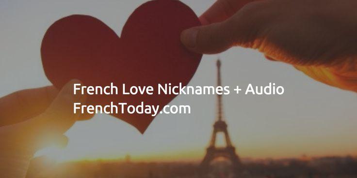 French Love Nicknames + Audio