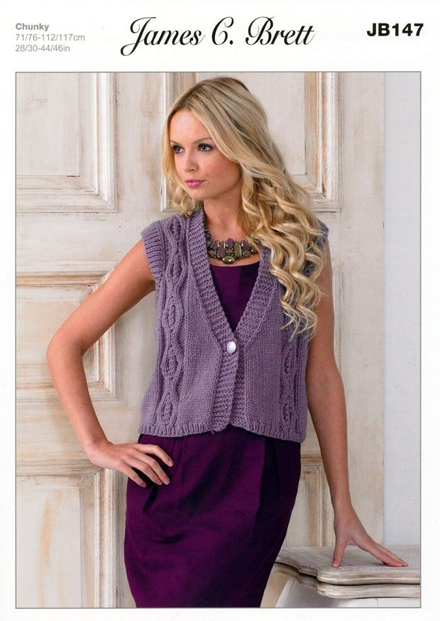 64 Best Knitted Waistcoats Images On Pinterest Knit Patterns