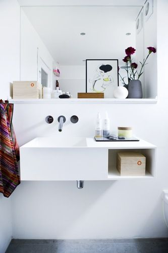 "I really love this! Every bit of this bathroom! I even bought that picture on the counter for my bathroom because of the article about this one in ""bolig magasinet""!"