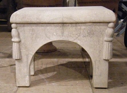 gorgeous limeston bench from Italy