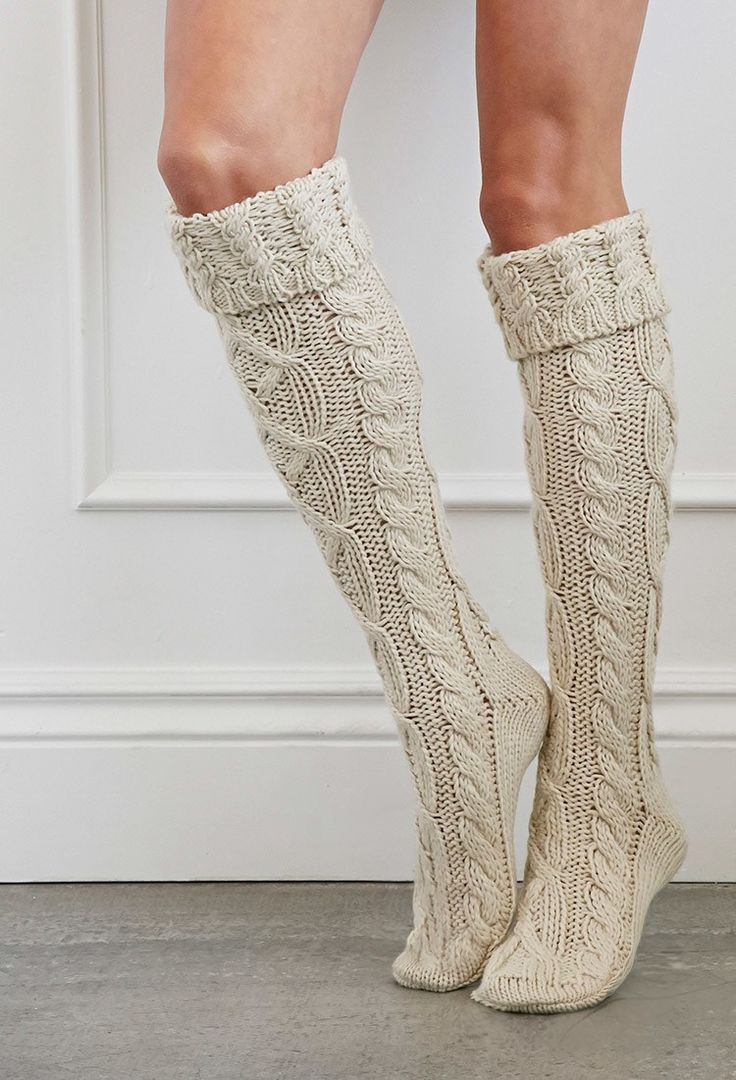 Cuffed Knee-High Slipper Socks - cheap gift ideas for teen girls                                                                                                                                                                                 More
