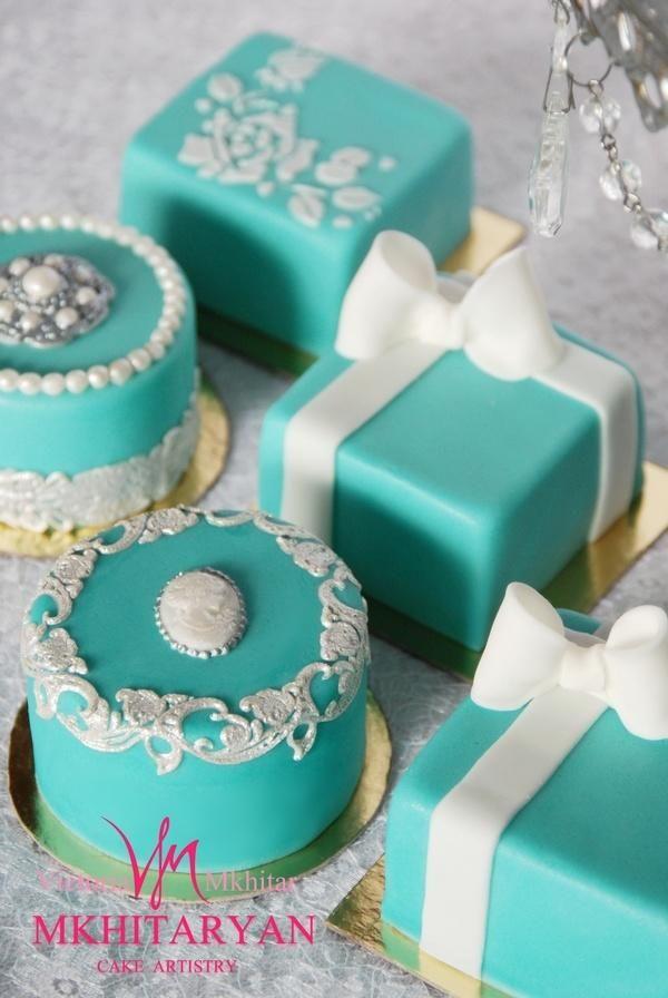 Tiffany mini-cakes by V&M Mkhitaryan Cake Artistry