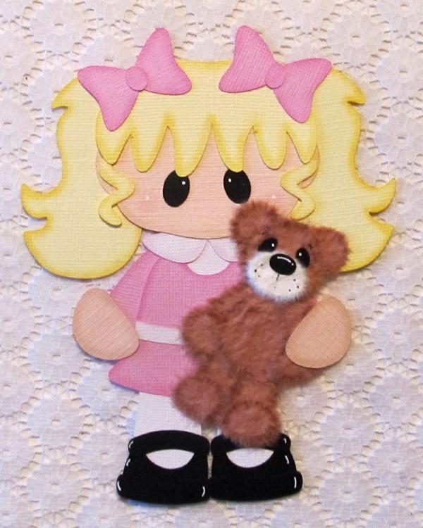 On Ebay ~ Girl & Tear Bear Paper Piecing. Girl patterns by Little Scraps of Heaven Designs <3