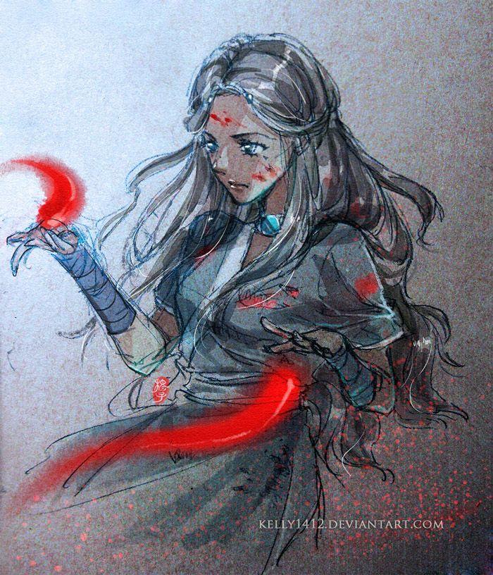 Avatar Art: Doodle_Blood Bending Katara By *kelly1412 On DeviantART