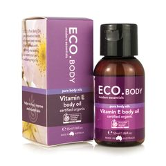 Eco Modern Essentials Certified Organic Vitamin E Pure Body Oil 1.86 fl oz.