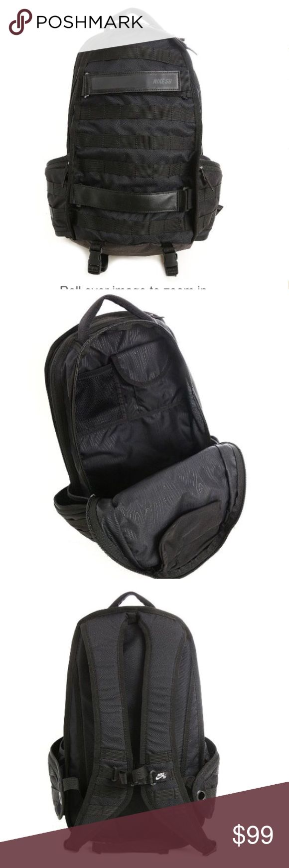 """Nike SB Backpack RPM. Nike SB Backpack RPM. 100% polyester Interior small-item mesh pocket Reflective elements stand out in low light Dimensions: 19"""" H x 12' W x 6"""" D Fabric: 100% polyester Nike Bags Backpacks"""