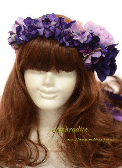 紫モカラとアネモネの「大人花冠」