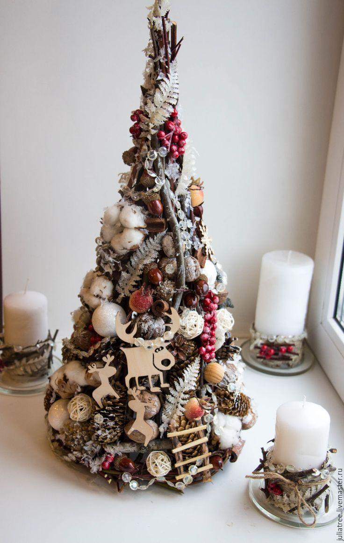 """Купить Елка новогодняя большая """"Лесная сказка"""" - комбинированный, елка, новогодний декор, елка новогодняя"""