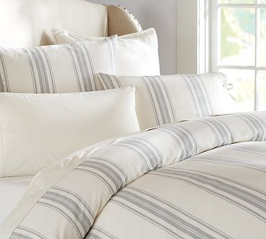 Pottey Barn Evan Stripe Duvet Cover & Sham #potterybarn - $29.99