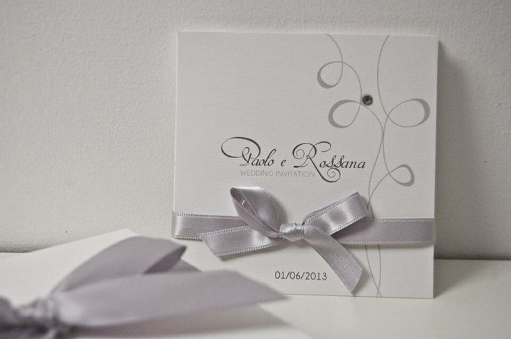 White and grey wedding invitation design by trepois.it