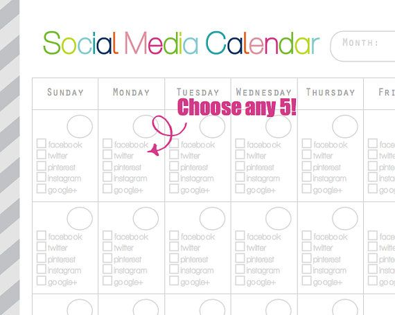 Search results for social media calendar template for Social media planning calendar template