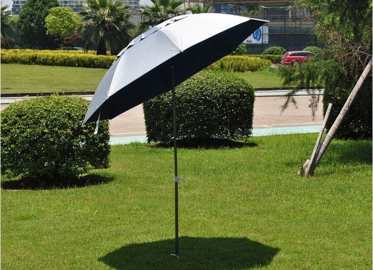 1.8M Diameter Portable Outdoor Fishing Umbrella Adjustable UV Protection Umbrella Silver Coating Beach Umbrella #Affiliate