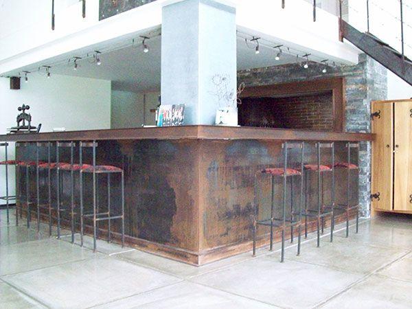 barra con plancha de hierro