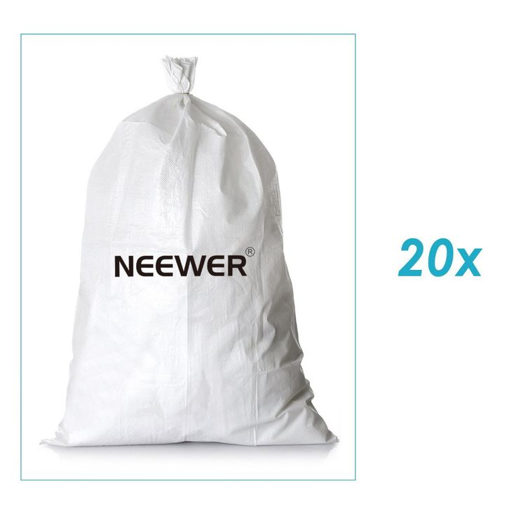 """Neewer 20 Pack 8""""x6""""/21cmx15cm Empty White Woven Polypropylene Sandbags with UV Coating Protection for Flood Protection #Affiliate"""