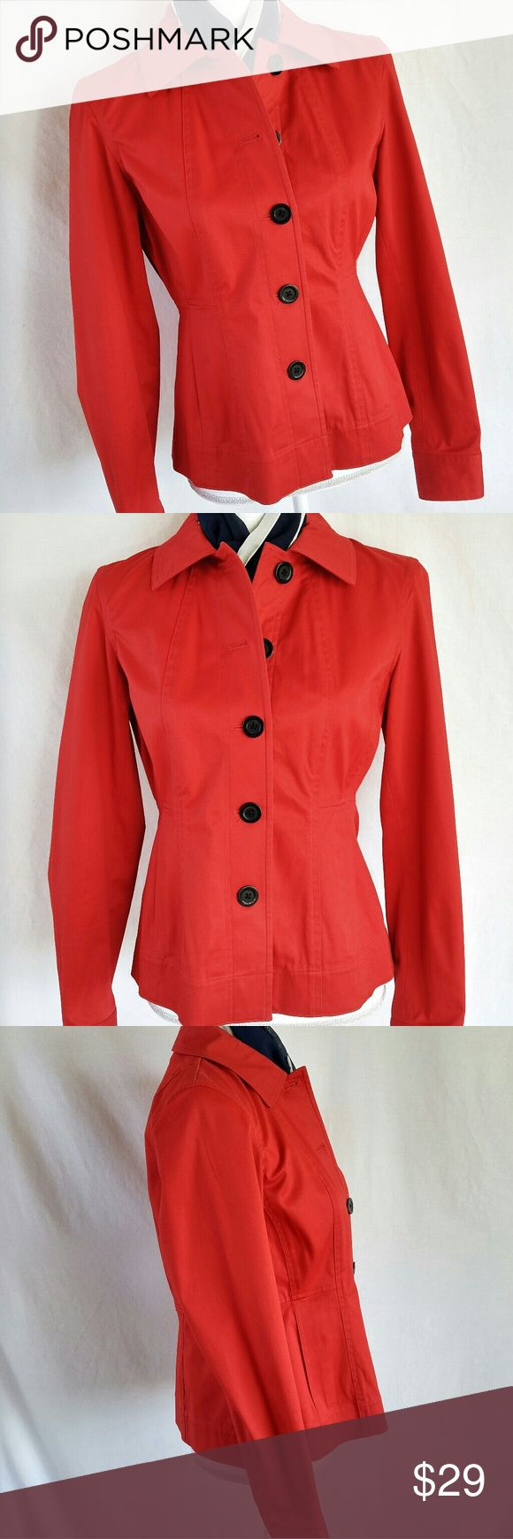 Jones New York Size Small Red Jacket Coat Size small Measurements to come  Very good pre-owned condition, a stray thread here or there, no fading, stains, or holes. Jones New York Jackets & Coats