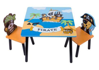 Piraten kindertafel met 2 stoeltjes   Tafeltjes & stoelen