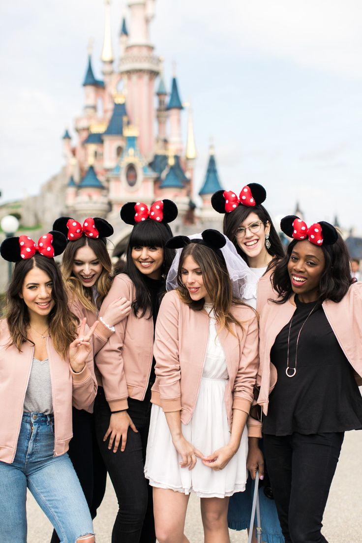 After a day of traipsing around Paris eating pastries, next on our agenda for my perfect hen weekend in Paris was a trip to Disneyland. Reem, Lucy, Kristabel, Olivia, Dunya and my mum all woke up first thing on the Saturday, donned our mouse ears, and then hopped on the train to Disneyland to try and get there for as close to opening time as possible.