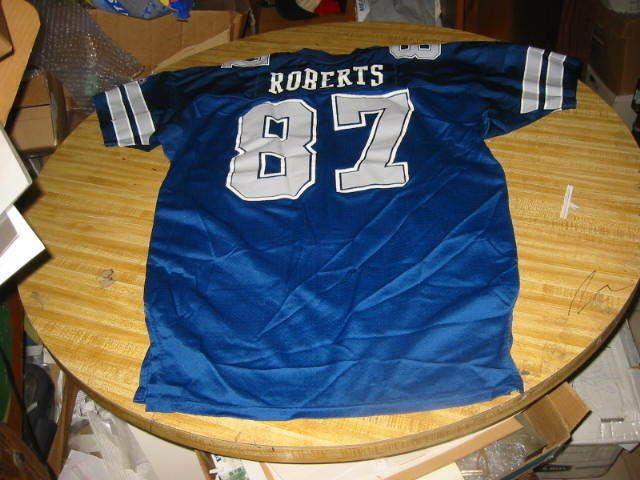1992 ALFREDO ROBERTS DALLAS COWBOYS NFL FOOTBALL GAME USED JERSEY..NICE USAGE!!!