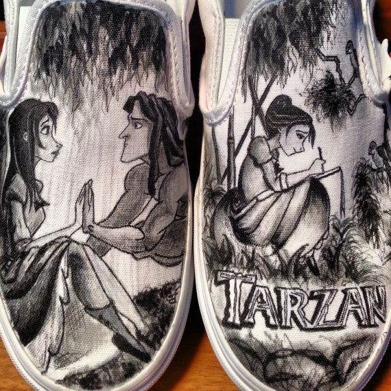 Disney's Tarzan Custom Made Shoes ARTWORK and SHOES by BRINKADINK