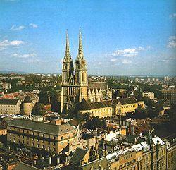 Zagreb, capital de Croacia. Catedral.