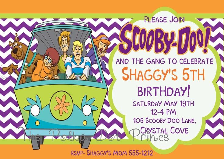 41 best scooby doo images on pinterest   scooby doo, birthday, Birthday invitations