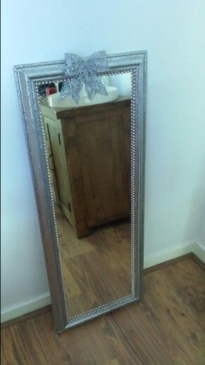 A girl cant have enough glitter!Just finished project started off as a pine mirror.x