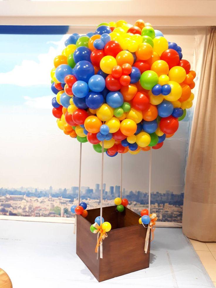 Resultado de imagem para centro de mesa balão bola infantil
