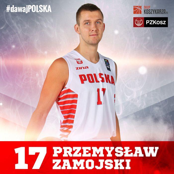 Przemysław Zamojski (#17) - rzucający obrońca  Reprezentant Polski w Koszykówce