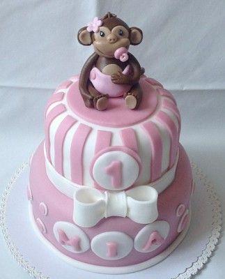 Dětský dort s opičkou - klikni pro větší velikost