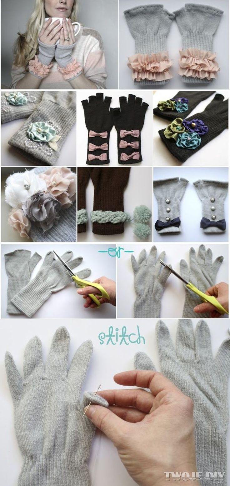 ozdabiane rękawice