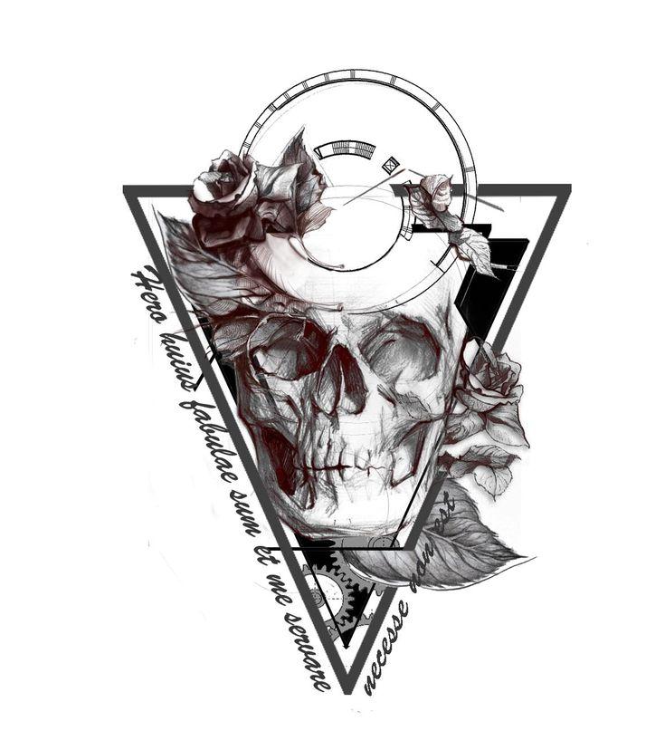 Design #213 por Idet87   Hip - Dark - Sketch Tattoo Design Needed!