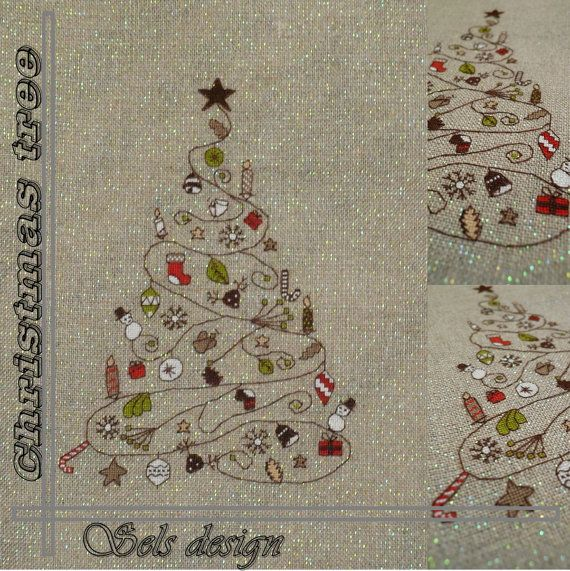 Christmas tree pattern by Selscrossstitch on Etsy, $6.00