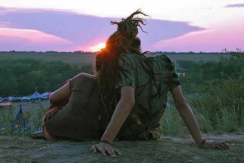 • love couple hippie sky sun dreadlocks ozora festival ourdreads •