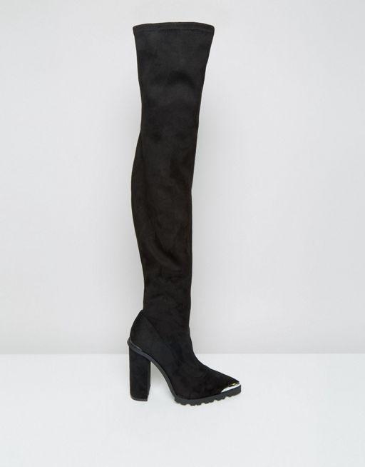 ASOS KAILA Overknee-Stiefel mit Absatz (93,99 €)