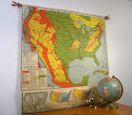 Best Maps Images On Pinterest Vintage Maps Cartography And - Us wall maps for sale