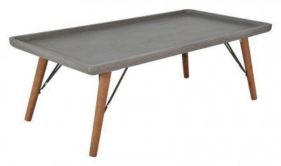 Soffbord trä och betong look, Isac   Köp soffbord på nätet