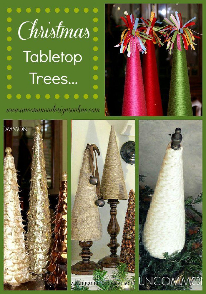 Christmas Tabletop Tree Ideas  #Christmas  #ChristmasTree  #HolidayDecorating