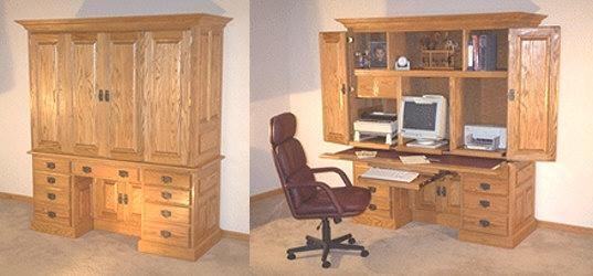Computer desk Mission style