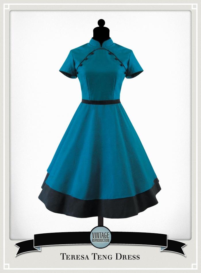 Our Vintage House Cheongsam dresses - Teresa Teng Dress