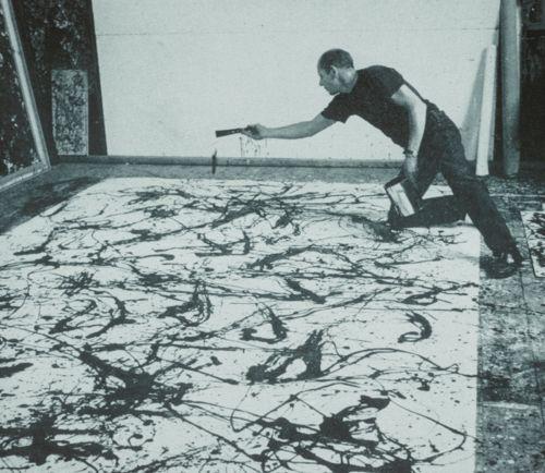 Jackson Pollock, Artist at Work, taken 1950. (via fuckyeah-arthistory)