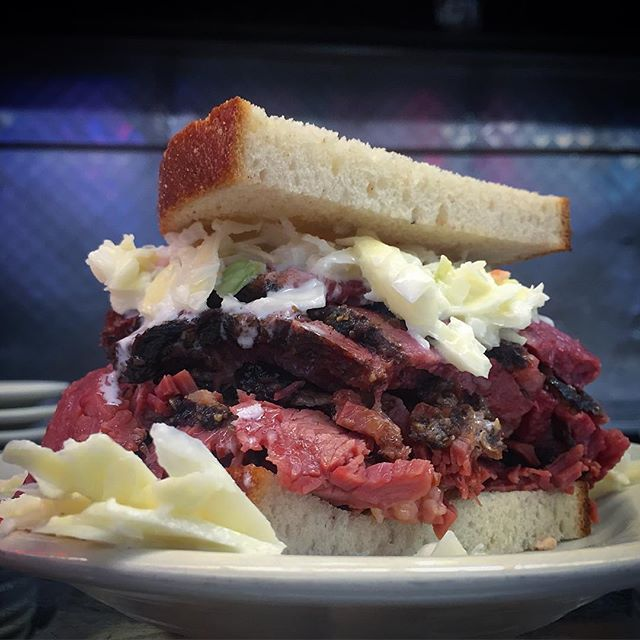 Coleslaw topped pastrami for dinner anyone? #food #foodie #foodporn #pastrami #coleslaw #swisscheese #bread #ryebread #yum #sandwich#cabbage #pastramisandwich #smokedmeat #beef #les #lowereastside #nyc #katz #katzs #katzsdeli #katzdeli #katzsdelicatessen #katzdelicatessen #deli #delicatessen
