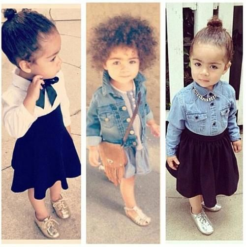 Darling toddler in designer skirts and denim  25 Kids Who Are Way More Fashionable Than The Rest Of Us • BoredBug