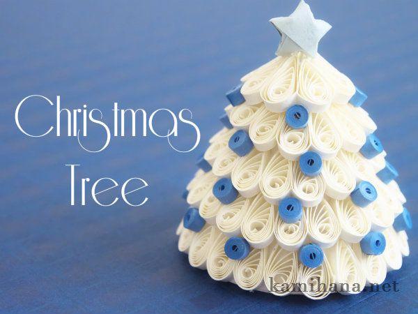 Paper Quilling -- 【ペーパークイリング】紙で作る3D(立体)クリスマスツリー
