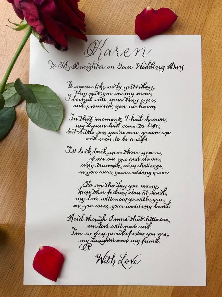 To My Daughter On Your Wedding Day Poem